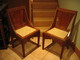 J S Henry Oak dining chairs