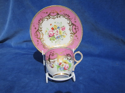 Coalport ringhandle coffee cup and saucer